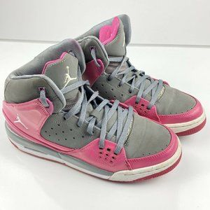 Nike Air Jordan Sparkle Size 7 Y Pink & Grey High